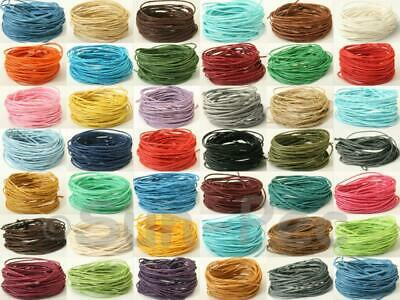 Coloured Waxed HEMP String Cord Smooth Twine 1mm Jewelry Macrame Crafts Knotting