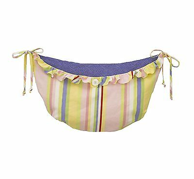 Cotton Tale Designs Spring Fling Toy Bag, Pink/Blue