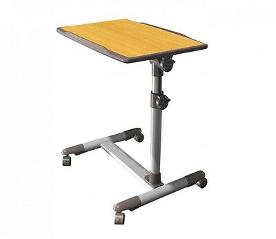 Overbed Table Height and Tilt Adjustable 4 Lockable Castors Smooth- Gift Idea