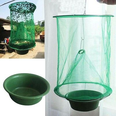 Folding Mosquito Capture Cage Fly Mesh Net Hanging Trap Insect Catcher