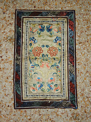 Antique Chinese Hand Embroidery Silk Wall Hanging Tapestry/Panel 54X33cm (X145)