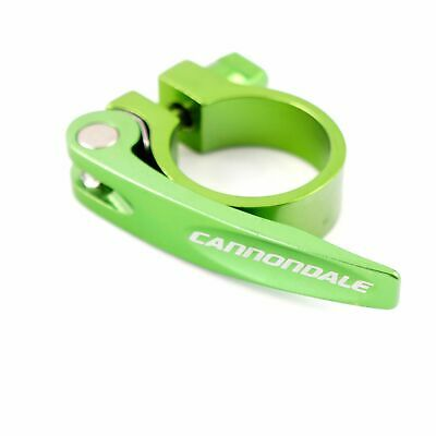 Cannondale Bicycle Road Seatpost Seat Clamp 31.8mm With Quick Release Green Red
