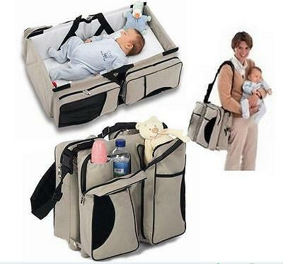 Multi-Function Folding Travel Crib Newborn Baby Bag Diaper Bag Portable Cot Bed