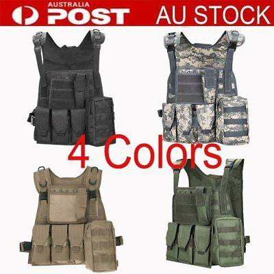Tactical Hunting Military Vest Outdoor Waistcoat Clothing Combat Assault Vest BU