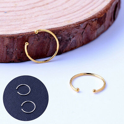 Fake Septum Nose Ring Body Silver Gold Plated Non Piercing Hanger Clip Jewelry