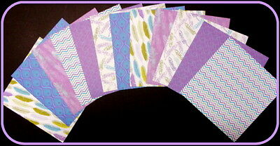 """NEW! Scrapbooking/Cardmaking Papers *CHARMIING FEATHERS* - 15cm x 15cm(6"""" x 6"""")"""