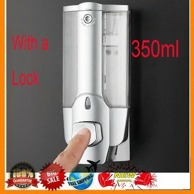 Plastic+Stainless Steel 350ml Bathroom Kitchen Sink Liquid Soap Dispenser BS