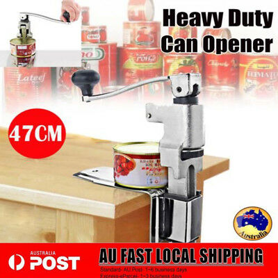 Heavy Duty Large Commercial Can Opener Counter Bench Top Cast Steel Table Hot