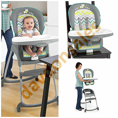Baby High Chair Feeding Seat Infant Toddler Portable Booster Tray Cover Folding