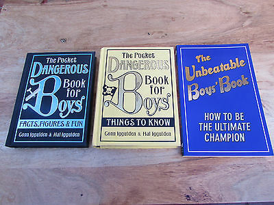 The Unbeatable & Pocket Dangerous Books for Boys x 3 Ultimate Champion Used VGC