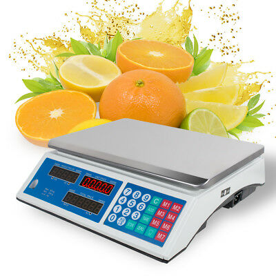 US SHip 60 LB Digital Scale Price Computing Deli Food Produce Counting Weight