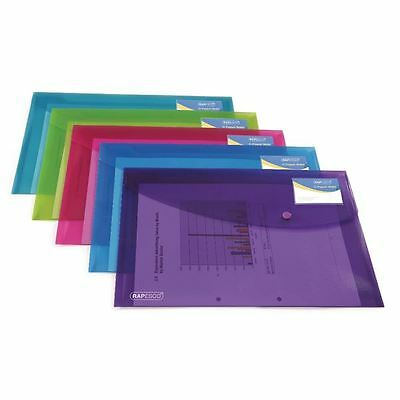 Rapesco ID Popper Wallet Translucent Assorted (Pack of 5) 0700 [HT51702]