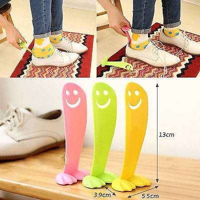 Smile Plastic Long Handle Shoehorn Spoon Shoes Lifter Portable Spoon Shoe Horn