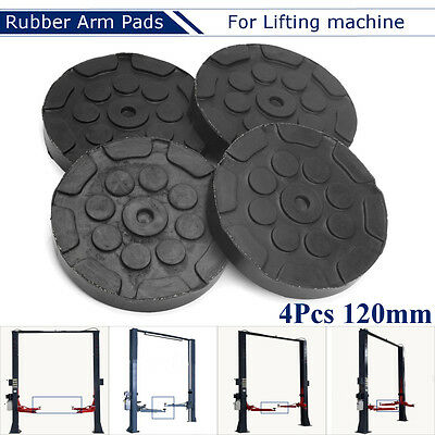 4Pcs 25mm Thick Round Rubber Arm Pads for Car Quality Challenger Lift Dia. 120mm