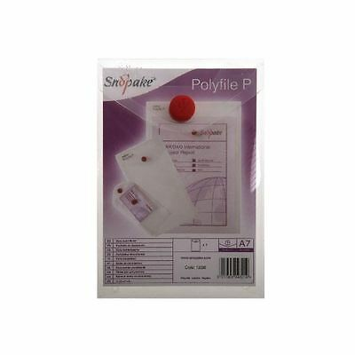 Snopake Clear Polyfile P File Wallet A7 Portrait (Pack of 5) 13306 [SK04321]