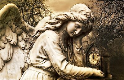 Lovely Angel Victorian Antique Style Canvas #66 Gothic Canvas Wall Art Pictures