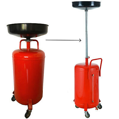 90L Manual Discharge Portable Garage Waste Oil Drainer Oil Drain Tank with Pan