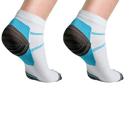 Plantar Fasciitis Relief Anti-Fatigue Compression Socks and Foot Sleeves White