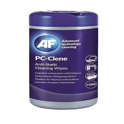 AF PC-Clene Anti-Static Cleaning Wipes Tub (Pack of 100) PCC100 [AFI50002]
