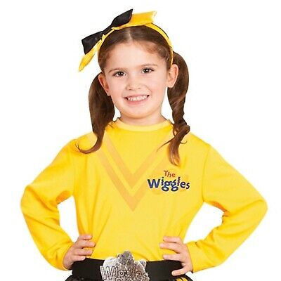 Emma Wiggle Yellow Top Shirt Girls Boys Costume Licensed The Wiggles Toddler 3-5
