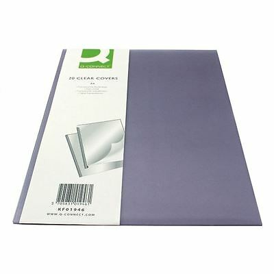 Q-Connect Clear A4 Binding Folder (Pack of 20) KF01946 [KF01946]