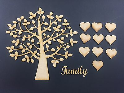 Family Tree complete Set, MDF Wooden Craft Blank,Shape, Laser cut 006