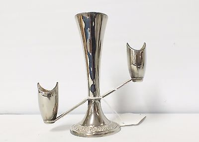 Vintage Silver Plated Trio Candlestick and Flower Stand