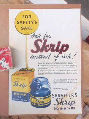 "Sheaffer  ""skrip""  ink   Advert"