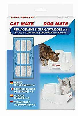 Pet Mate Cat Dog Water Fountain Replacement Filter Cartridge 6 Pack
