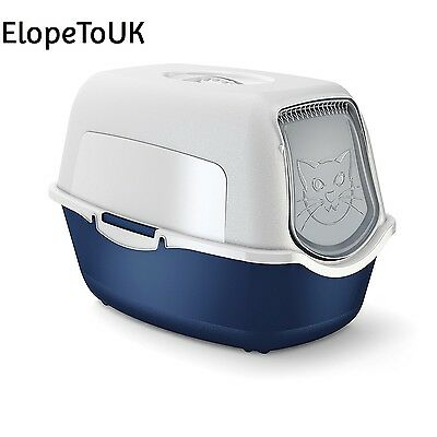Rotho cat litter box with cover and door easy to clean for domestic cats...