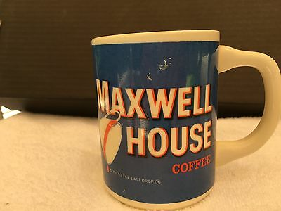 Vintage Maxwell House Ceramic Coffee Cup Mug Made In The USA Double Sided