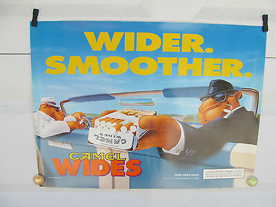 Camel Wides Lights Poster Dated 1996 (3Rd Qt.) New