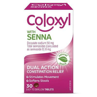 Coloxyl With Senna Softener and Laxative Tablets 30 Treatment of constipation