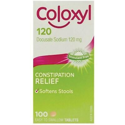 Coloxyl 120mg Stool Softener Tablets 100 - Film coated tablets.