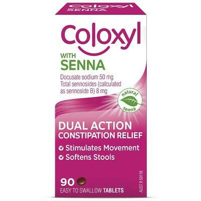 Coloxyl With Senna Softener and Laxative Tablets 90 Treatment of constipation