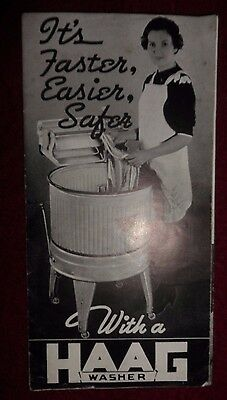 Haag Washer Antique Washing Machine Brochure Advertisement Catalog
