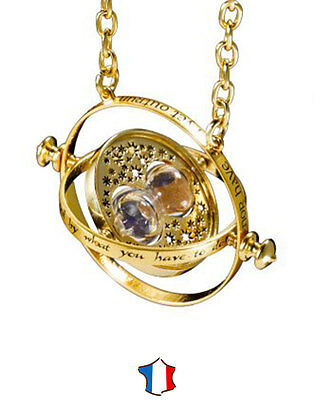 * Collier + Pendentif Hermione Retourneur De Temps Harry Potter Top Time Turner