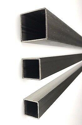 Square Tube Metal Bar Box Section 25mm 30/40/50mm Stainless Steel Dull Polished