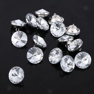 50pcs 25mm Diamante Crystal Sewing Buttons Upholstery Headboard Chair Sofa