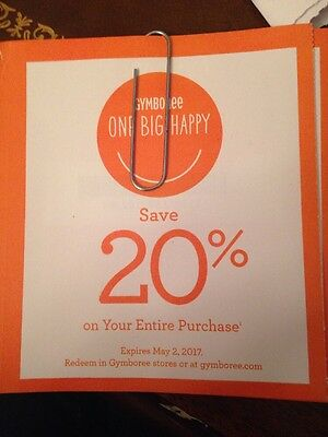 Gymboree  20% on ENTIRE purchase