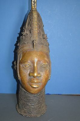 Very Large (57cm Tall) Mid 20th Century African Benin Tribal Bronze, c1950