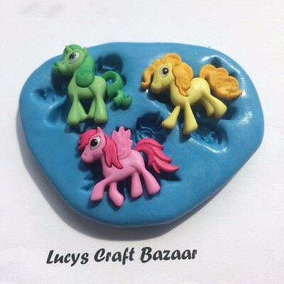 Silicone Mould My Little Pony cupcake toppers decorations fondant chocolate fimo