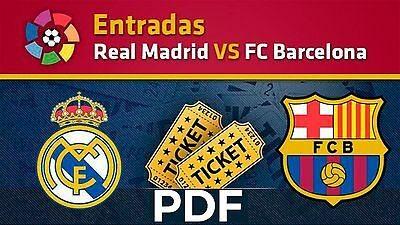 Entradas REAL MADRID vs BARCELONA Copa 2017 12 Agosto Descarga Inmediata PDF