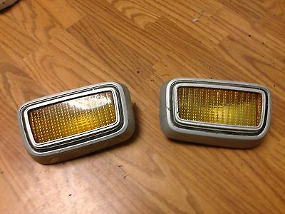 1974 Maverick Amber colored Grill Lights (pair, but will split)