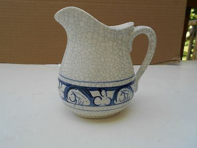 Dedham Type Pottery Repro Rabbit Pitcher 5 Inches high