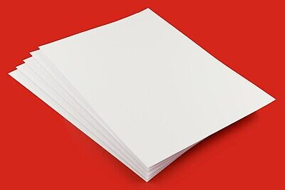 A1-A2-A3-A4-A5-A6 Premium Smooth White Craft Card-Card Making 160GSM-500GSM