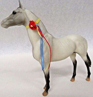 Breyer Pale Grulla Apache Horse With Neck Ribbon - Mold # 264 - Classic Style