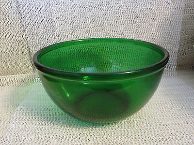 "Anchor Hocking Forest Green.. 7"" Forest Green Glass Mixing Bowl"