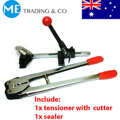PP Strapping Packing Tool Sealer and Tensioner w/ Cutter Packing Machine Set