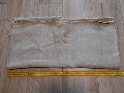 Antique Thin HEMP Fabric Canvas 0,52x3m 19thC Color natural Great condition
